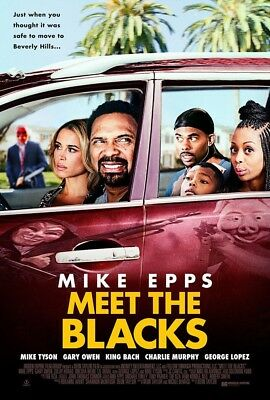 MEET THE BLACKS MOVIE POSTER 2 Sided ORIGINAL VF 27x40 MIKE EPPS ZULAY HENAO