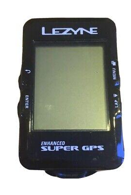 Lezyne Enhanced Super GPS Cycle Bike Computer Mapping Navigation