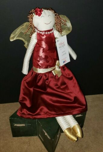 DEEP RED BROCADE with Gold ANGEL Woof & Poof New with Tag From 2015 Retired