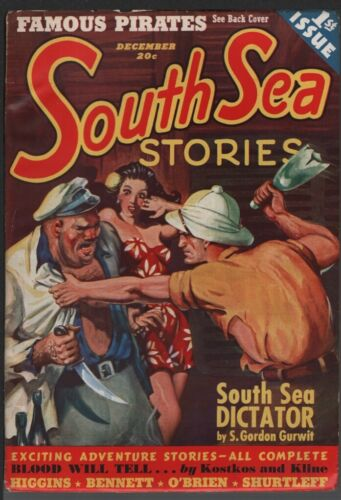 South Sea Stories 1938 December, #1.   Pulp