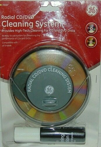 GE Radial CD/DVD Cleaning System 72597
