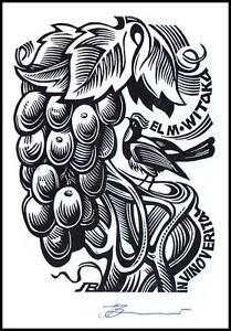 Leonenko Vasyl 2016 Exlibris X3 Bird Vogel Animals Grapes Trauben 1320 - <span itemprop='availableAtOrFrom'>Dabrowa Bialostocka, Polska</span> - Leonenko Vasyl 2016 Exlibris X3 Bird Vogel Animals Grapes Trauben 1320 - Dabrowa Bialostocka, Polska