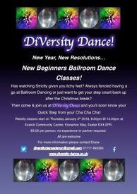 New Beginners Ballroom Dancing Classes!