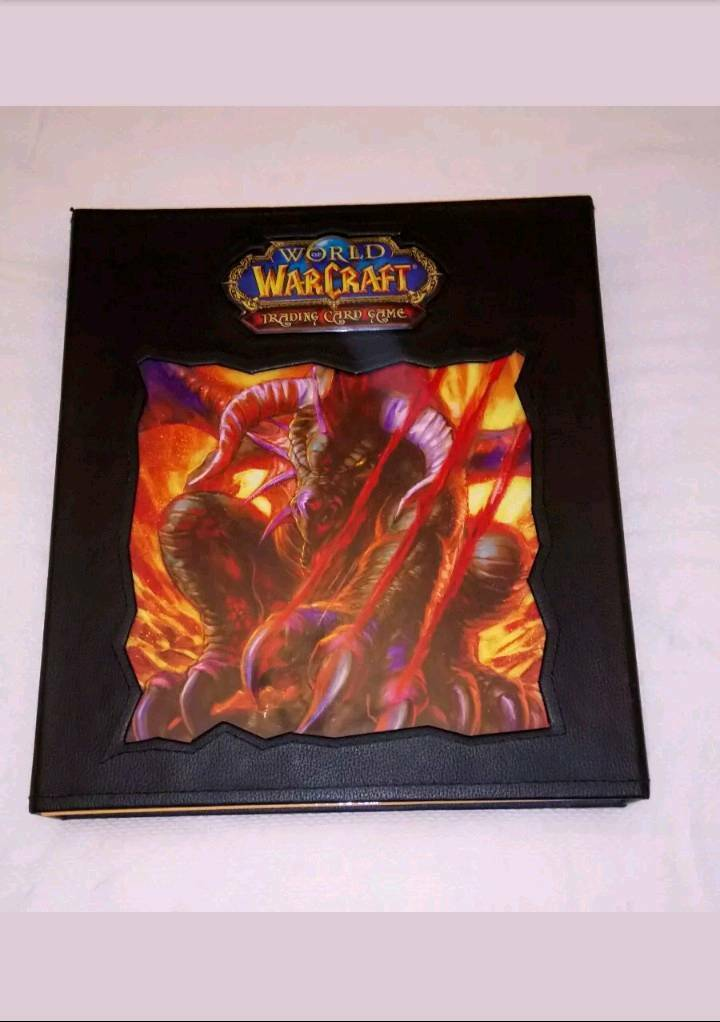 World of Warcraft TCG Collection 640+ Cards in Official Folder MINT COND Inc Unused Loot Cards