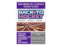 Winchmore Hill & Enfield Hockey Club's Back to Hockey Sessions