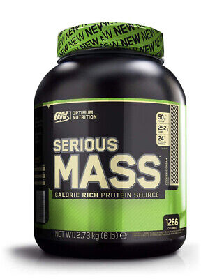 NEW! Protein Powder - Optimum Nutrition Serious Mass 6Lb Cookies And Cream