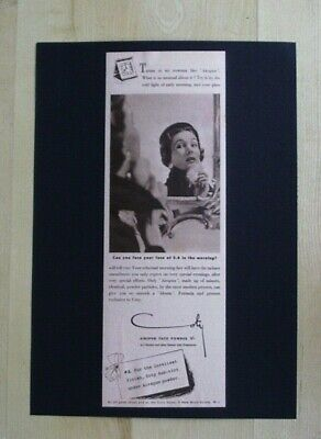 COTY COSMETICS AIRSPUN FACE POWDER ORIGINAL VINTAGE ADVERT FROM A 1951 MAGAZINE