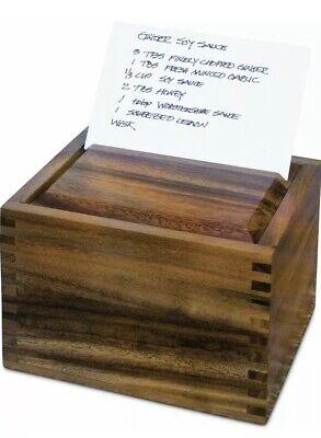 Fox Run Ironwood Gourmet Recipe Box, Acacia Wood (28339) Free Shipping