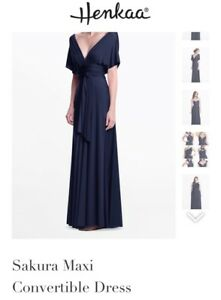 Brand New Henkaa Navy Blue Dress- one size fits all