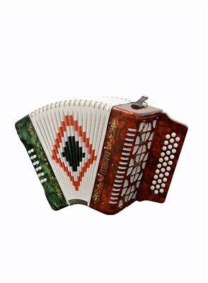 Baronelli Accordion 3112 R/W/G en SOL acordeon GCF NUEVO Rojo/blanco/verde