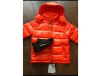 Moncler Maya padded down jacket Orange Size 1