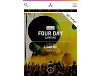 2x gold 4 day camping creamfields tickets