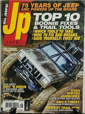 JP Magazine Aug 2016 Top 10 Boonie Fixes & Trail Tools Jeep FREE SHIPPING sb ()