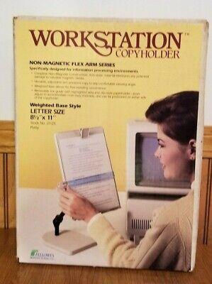 FELLOWES 21125 Workstation Copyholder Non-Magnetic Flex Arm Series New Vtg 1986