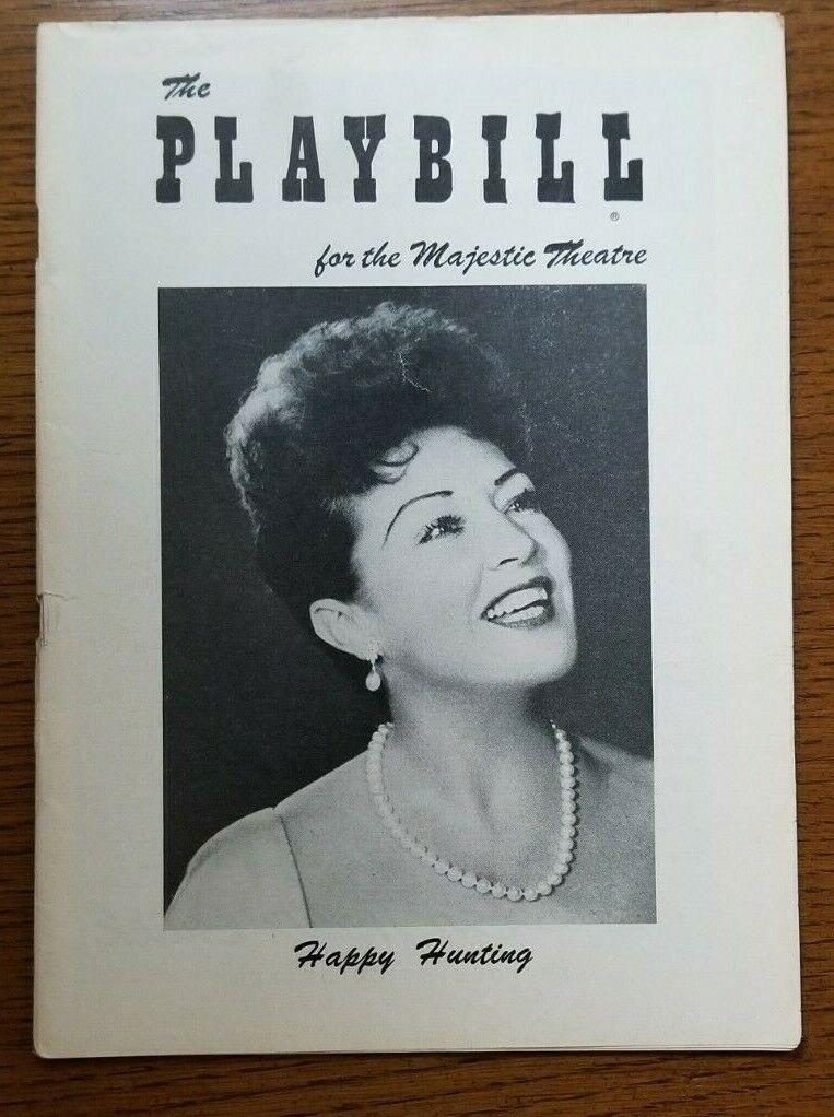 HAPPY HUNTING Ethel Merman/Estelle Parsons/Fernando Lamas 1956 Playbill - $5.00