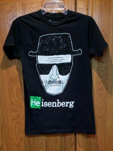 Breaking Bad 100% Cotton Classic AMC Heisenberg Graphic T Shirt Black Size S