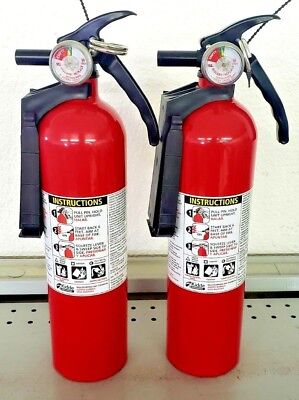 2.5lb Fire Extinguisher Abc Dry Chemical - Kidde Disposable - 1a10bc - Two Pack