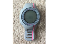 Garmin Forerunner 110 GPS Running Watch with Heart Rate Monitor - Grey/pink - used only once.