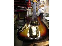 Left Handed Custom Japan Fender Jazz Bass with John East Pre Amp.