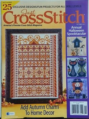 Just Cross Stitch October 2017 Annual Halloween Spooktacular FREE SHIPPING - Cross Stitch Halloween Magazine 2017