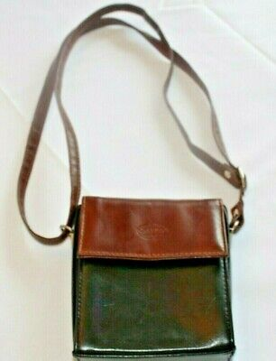 Calypso Soft Brown Italian Italy Leather Purse Crossbody Bag Small