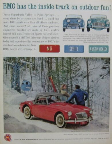 1961 MGA Print Ad in color (red)