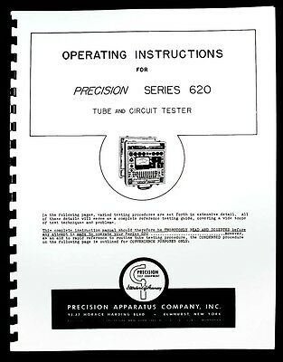Precision Tube Tester 620 Operating Manual