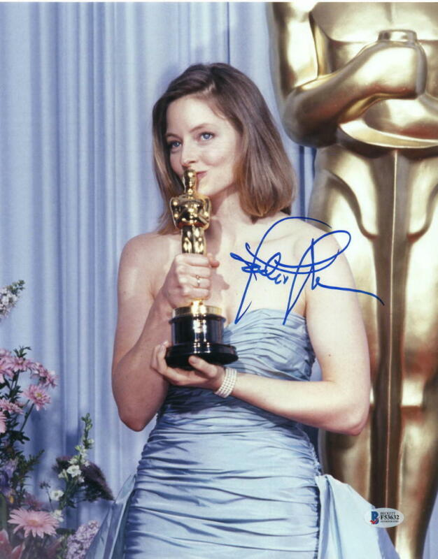 JODIE FOSTER SIGNED AUTOGRAPH 11x14 PHOTO - THE SILENCE OF THE LAMBS TAXI DRIVER