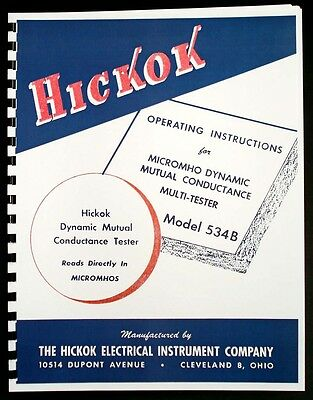 Hickok 534b Dynamic Mutual Conductance Tube Tester Manual