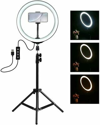 "10"" LED Ring Light Dimmable Lighting Kit Phone Selfie +1X Tripod Stand Lamp Live"