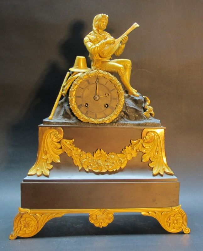 Large Napoleon III French Empire Orientalist Gilt Bronze Clock  c. 1870 antique