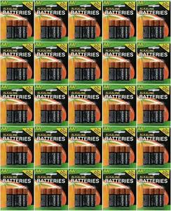 100 Genuine Duracell AA Alkaline Batteries (25 X 4 Packs)  - FREE SHIPPING!!!