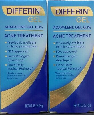 2 Tubes Differin Gel Adapalene 0.1% Acne Treatment 2-Pack 15G each EXP:10/2022