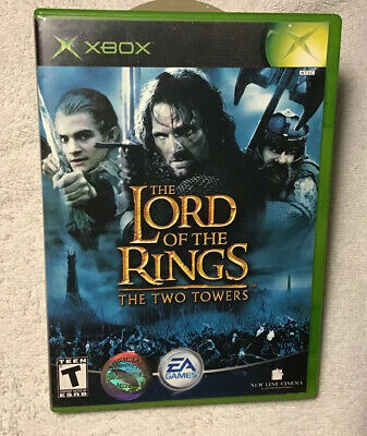 Lord of the Rings: The Two Towers (Microsoft Xbox, 2002) .. CLEAN TESTED WORKS