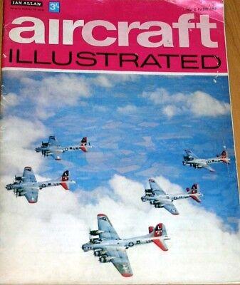 Aircraft Illustrated Magazine 1968 June F-105 Thunderchief,Elstree,Spartan IOW