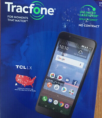 """New Tracfone TCL LX 4G LTE Prepaid Cell Phone 5.3"""" 16GB 8MP——20"""