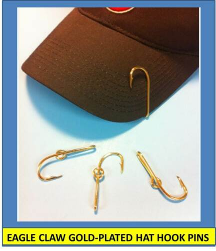 [1] EAGLE CLAW ORIGINAL GOLD-PLATED FISH HOOK HAT PIN/MONEY CLIP - GREAT $$$