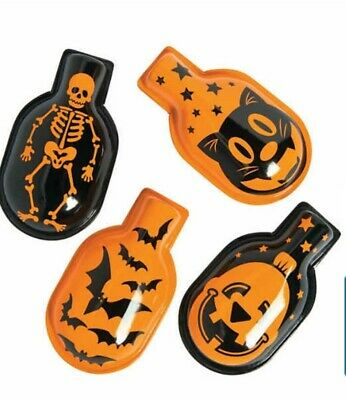 Halloween Set Designs (SET OF 4 REPRODUCTION VINTAGE HALLOWEEN 🎃 DESIGNS METAL CLICKERS)