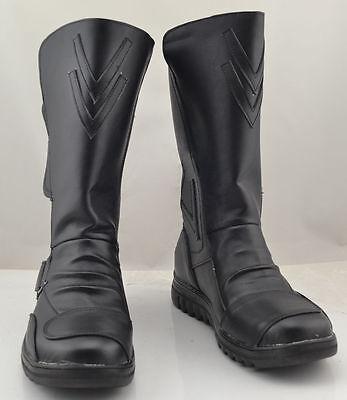 Darth Maul Star Wars Cosplay Black Shoes Boots Custom Made Halloween Cos Boots#F - Darth Maul Halloween