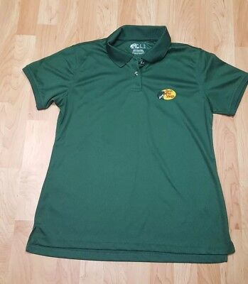 Women's L Bass Pro Shops Green Employee Embroidered S/S Polo Shirt EUC  ()