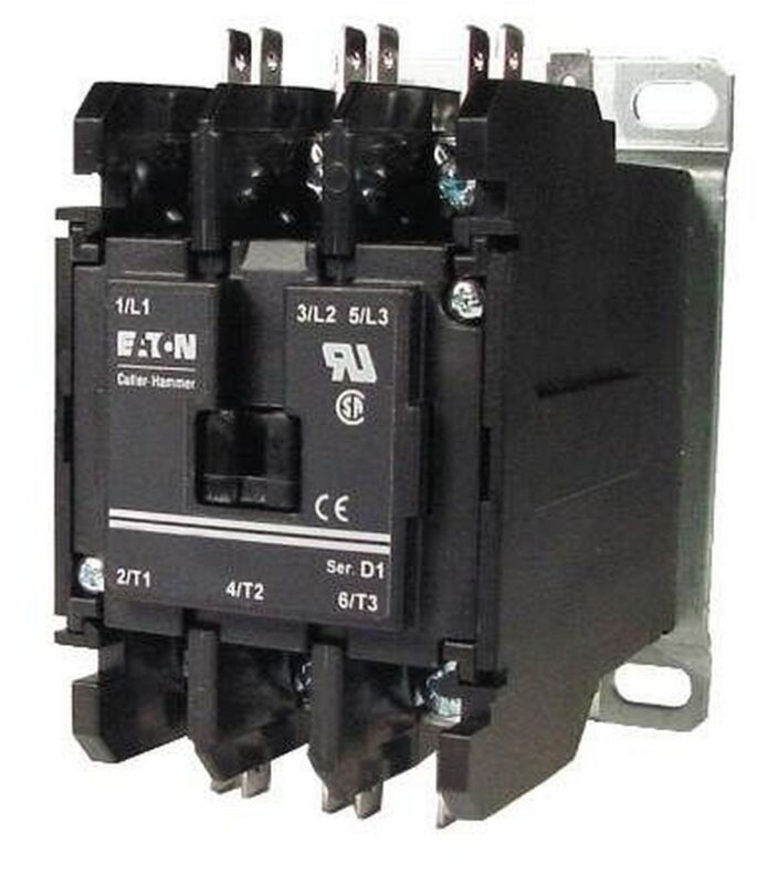 HVAC CONTACTOR 3P 40A REMOVABLE COVER C25DNF340T EATON CORPORATION/CUTLER HAMMER