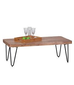 Solid Acacia Wood Coffee Table 115 x 60 x 40 cm