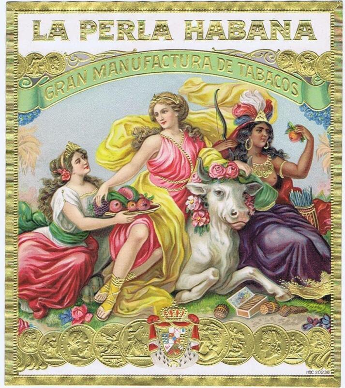 La Perla Habana  original outer cigar box label