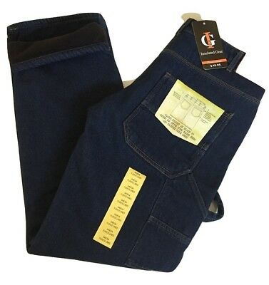 Men's Carpenter Style Fleece Lined Jeans Carpenter Style Jeans