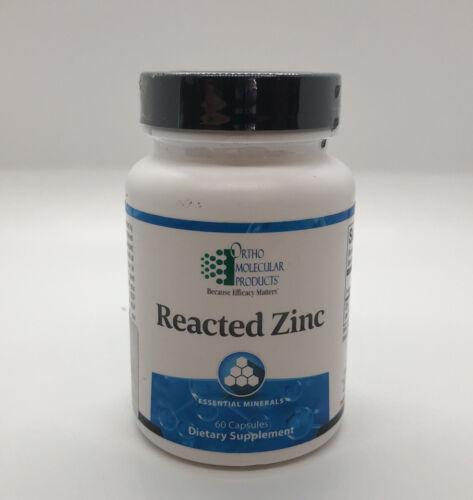 Ortho Molecular- Reacted Zinc -60 capsules 01/22 (NEW & SEALED)
