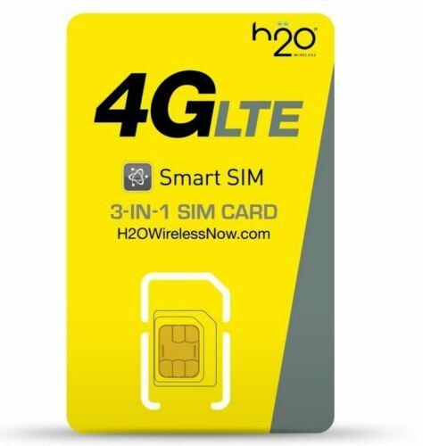 H20 Wireless Sim Card Triple Triple Cut - AT&T Network