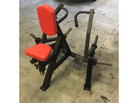 Commercial gym equipment plate loaded seated row