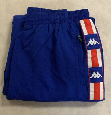 Kappa Mens Track Pants Joggers USA Team Blue Aut La Besail Size Large L