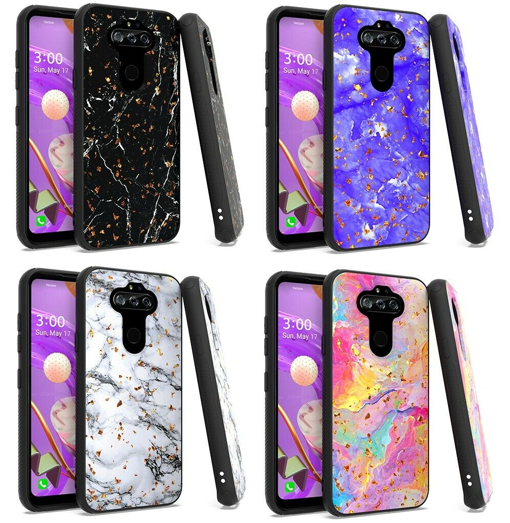 For LG Rebel K31 L355DL Marble Glitter Case Phone Cover  - $7.58