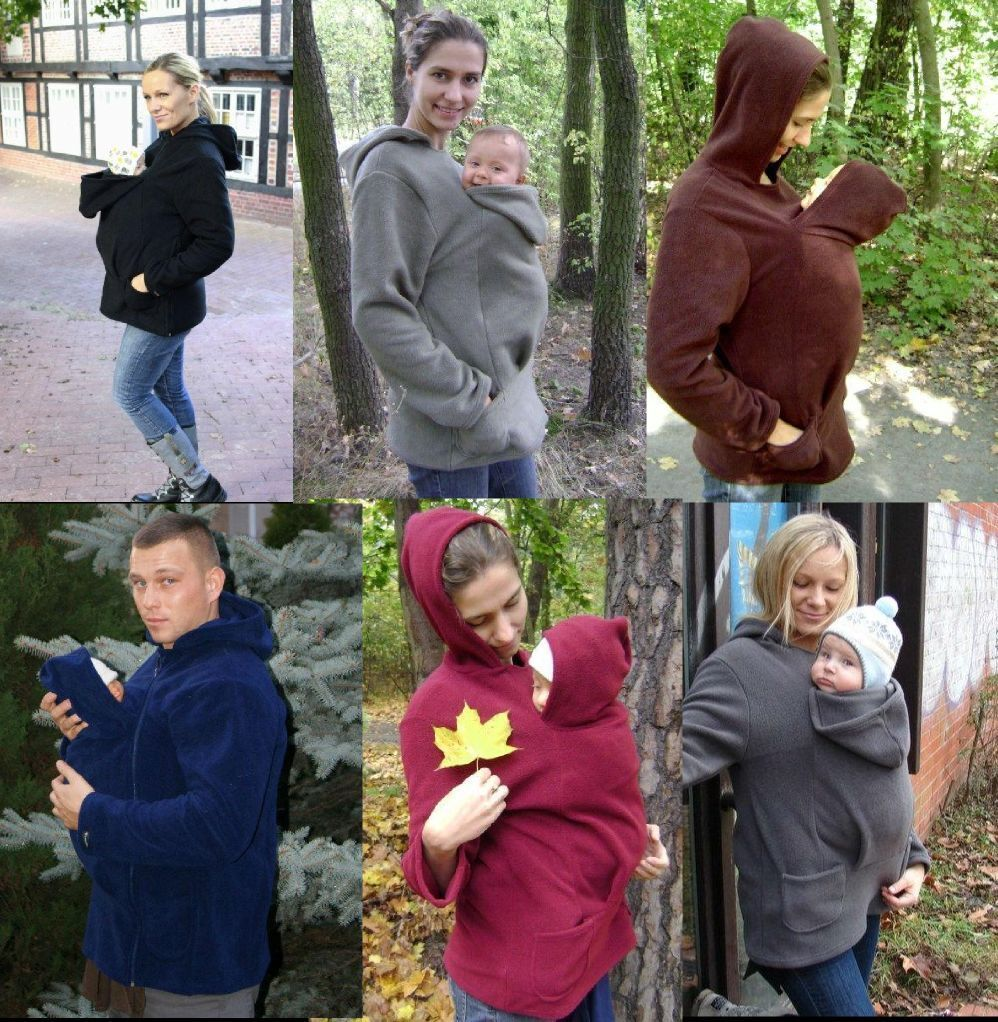 BABYWEARING FLEECE HOODIE GREAT FOR AUTUMN WARM COMFORTABLE FOR SLING MEI TAI